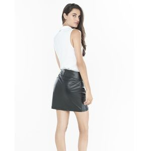 Express Leather High-Waisted Mini Skirt